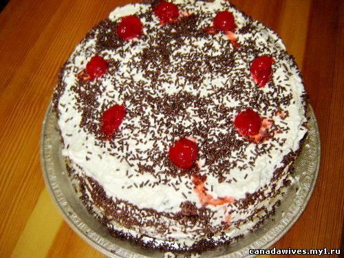 Украсить бисквитный торт своими руками
